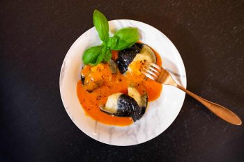 Forellen-Nudl <br>in würziger Tomatensauce