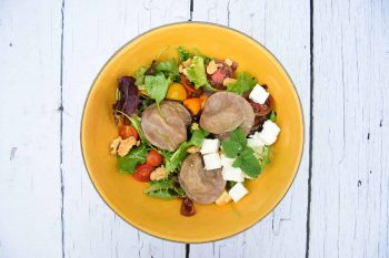 Ziegenkäse-Nudl<br>Feta Salat-Bowl