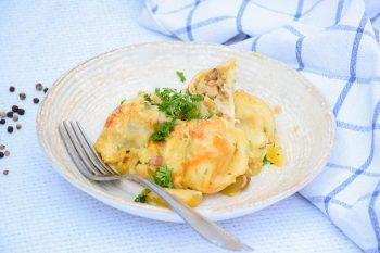 Speck-Nudl (Mini) im g'schmackigen Kartoffelauflauf